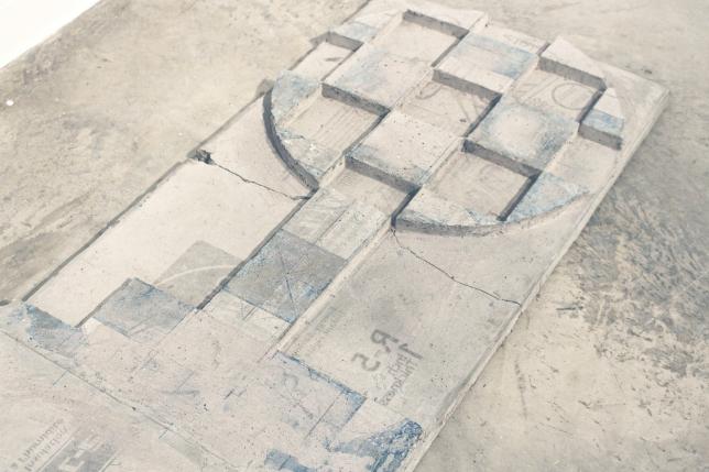 2015, concrete. Installation in ArtLab Gallery. 2 x 6 ft.